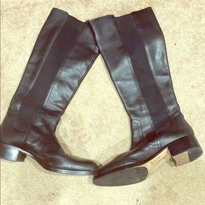 Louise et cie Black leather knee length boots